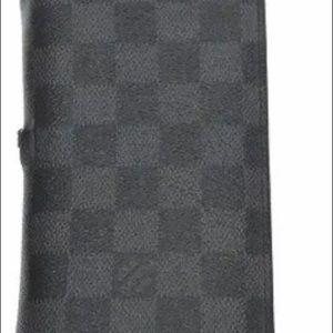 Louis Vuitton Black Damier Braze Wallet authentic
